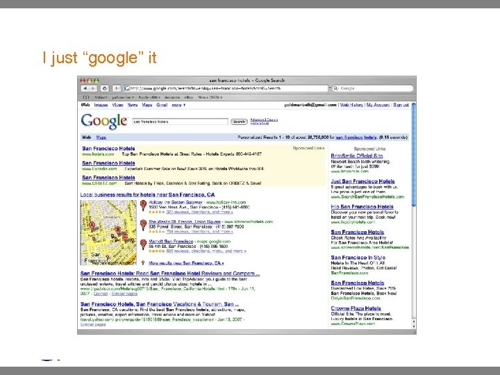 """I just """"google"""" it 