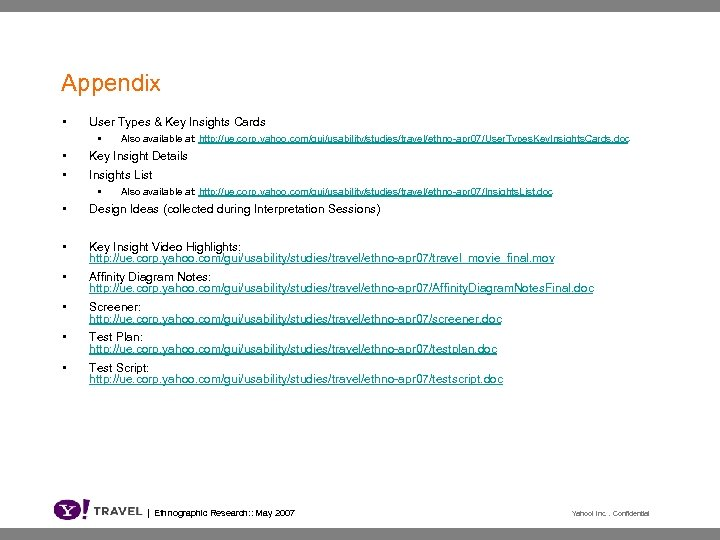 Appendix • User Types & Key Insights Cards • • • Also available at: