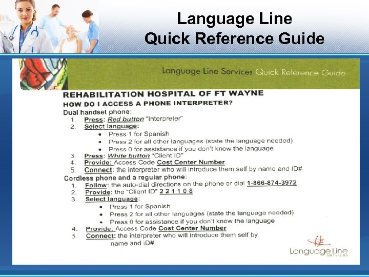 Language Line Quick Reference Guide