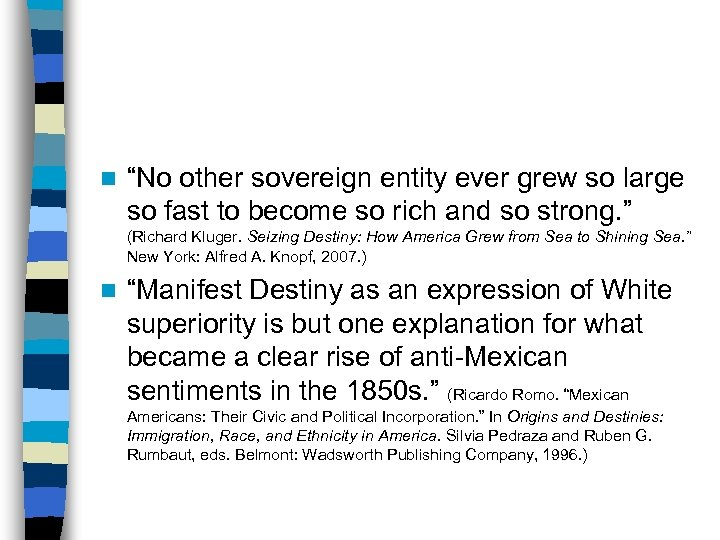 """n """"No other sovereign entity ever grew so large so fast to become so"""