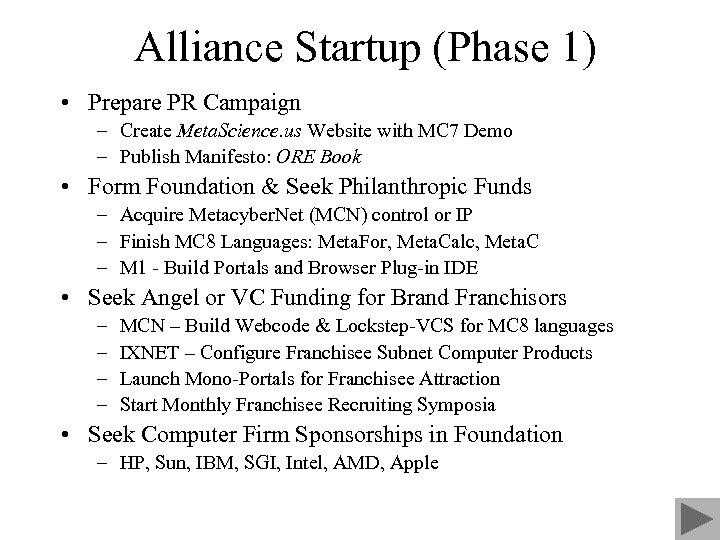 Alliance Startup (Phase 1) • Prepare PR Campaign – Create Meta. Science. us Website