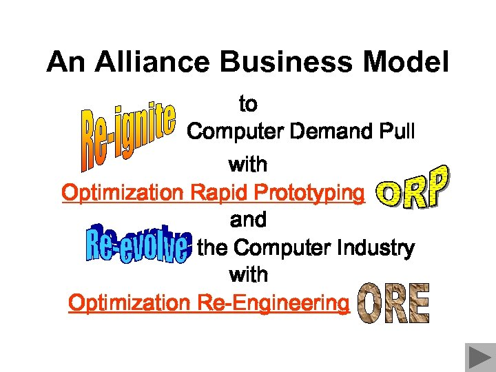 An Alliance Business Model to Computer Demand Pull with Optimization Rapid Prototyping and the