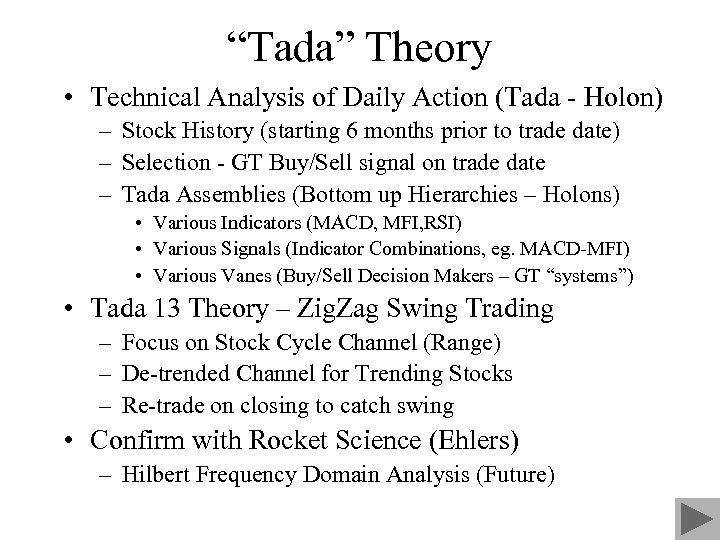 """""""Tada"""" Theory • Technical Analysis of Daily Action (Tada - Holon) – Stock History"""