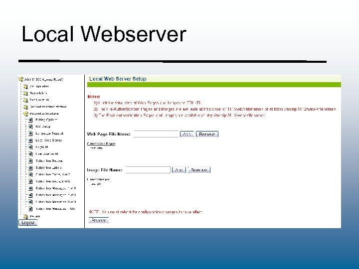 Local Webserver