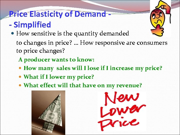 Price Elasticity of Demand - Simplified How sensitive is the quantity demanded to changes