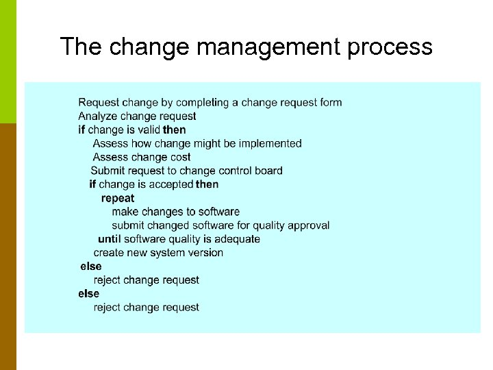 The change management process