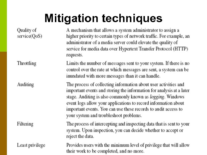 Mitigation techniques CS 220 – Software Engineering © Binayak Bhattacharyya 2006 82