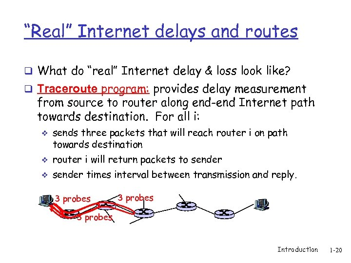 """Real"" Internet delays and routes q What do ""real"" Internet delay & loss look"
