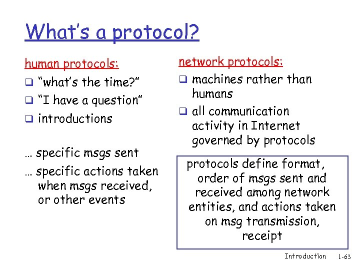 "What's a protocol? human protocols: q ""what's the time? "" q ""I have a"