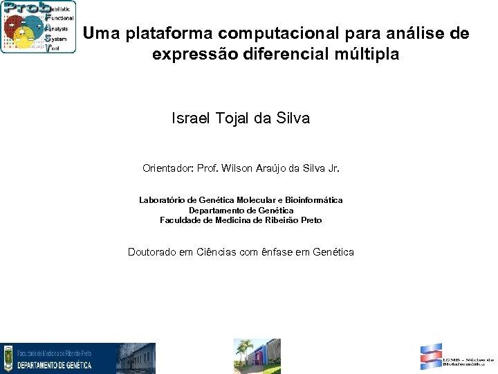 Uma plataforma computacional para análise de expressão diferencial múltipla Israel Tojal da Silva Orientador: