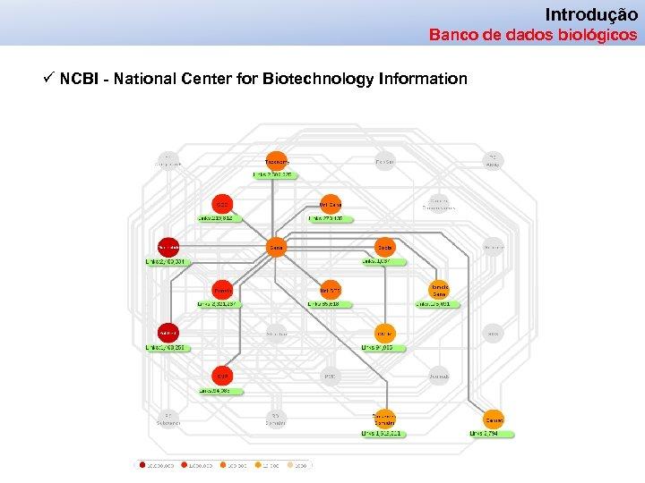 Introdução Banco de dados biológicos ü NCBI - National Center for Biotechnology Information