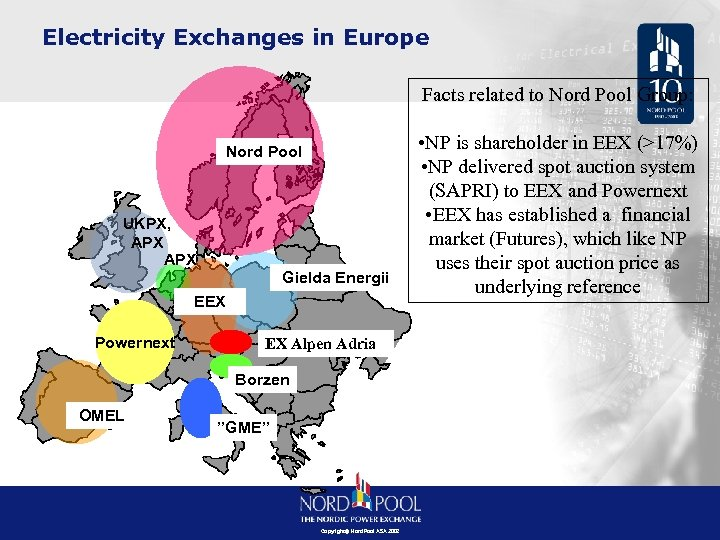 Electricity Exchanges in Europe Facts related to Nord Pool Group: Nord Pool UKPX, APX