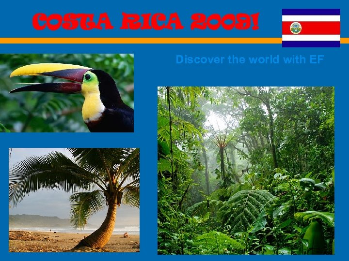 COSTA RICA 2009! Discover the world with EF EF Educational Tours