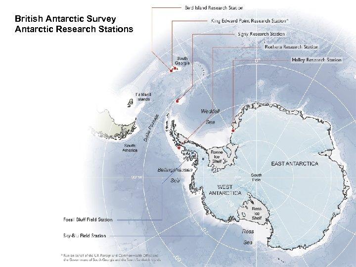 British Antarctic Survey Antarctic Research Stations