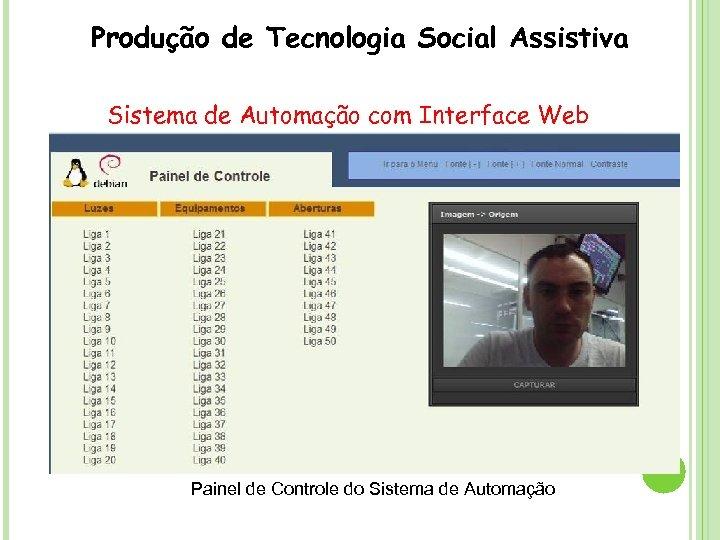 Produção de Tecnologia Social Assistiva Sistema de Automação com Interface Web Painel de Controle