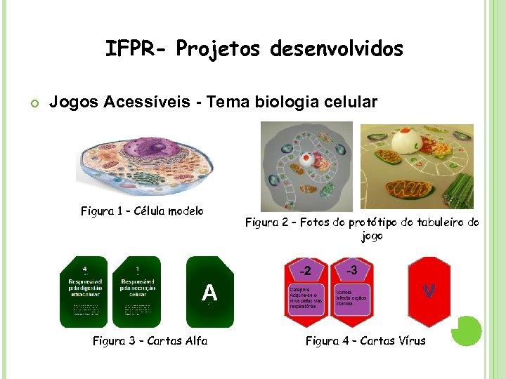 IFPR- Projetos desenvolvidos Jogos Acessíveis - Tema biologia celular Figura 1 – Célula modelo