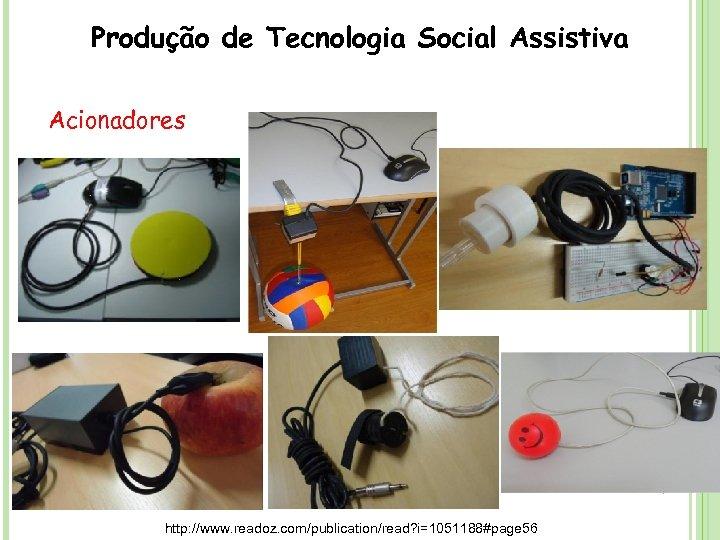 Produção de Tecnologia Social Assistiva Acionadores http: //www. readoz. com/publication/read? i=1051188#page 56