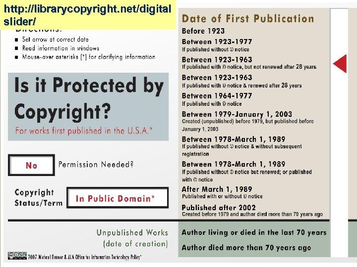 http: //librarycopyright. net/digital slider/