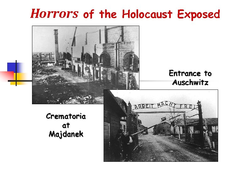 Horrors of the Holocaust Exposed Entrance to Auschwitz Crematoria at Majdanek