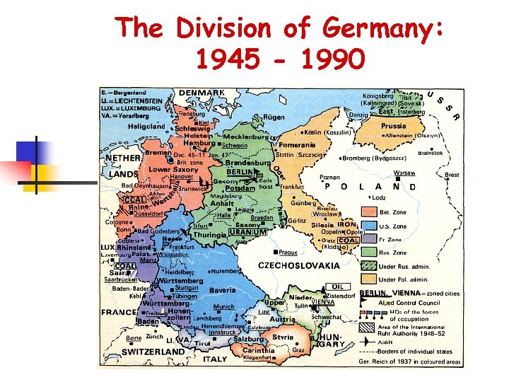 The Division of Germany: 1945 - 1990