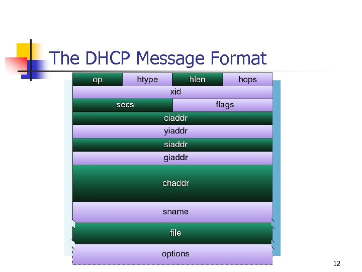 The DHCP Message Format 12