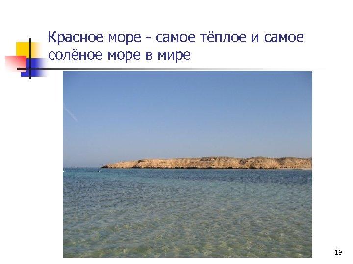 Красное море - самое тёплое и самое солёное море в мире 19