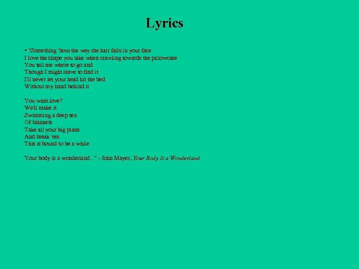 Lyrics •