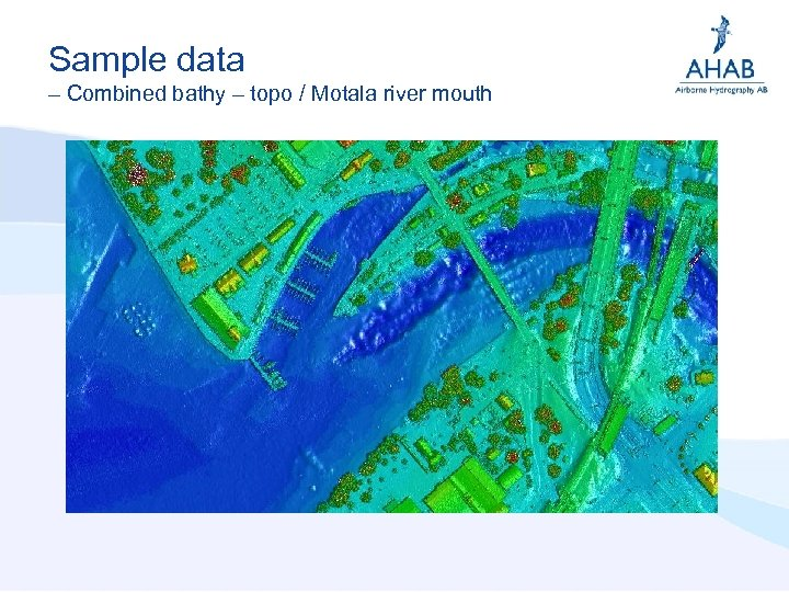 Sample data – Combined bathy – topo / Motala river mouth