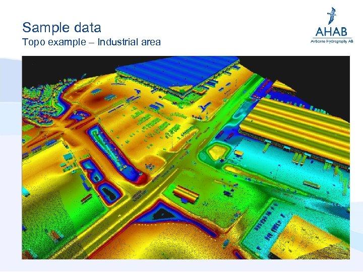 Sample data Topo example – Industrial area