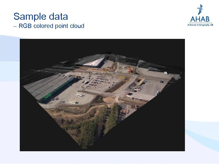 Sample data – RGB colored point cloud