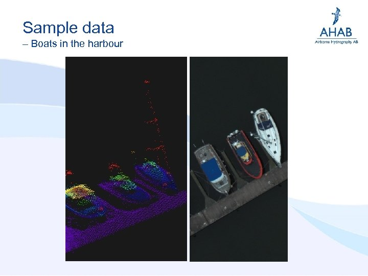 Sample data – Boats in the harbour
