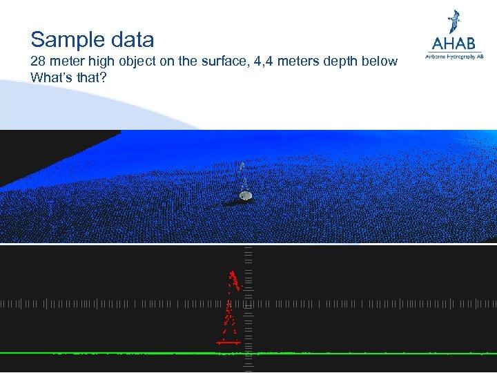 Sample data 28 meter high object on the surface, 4, 4 meters depth below