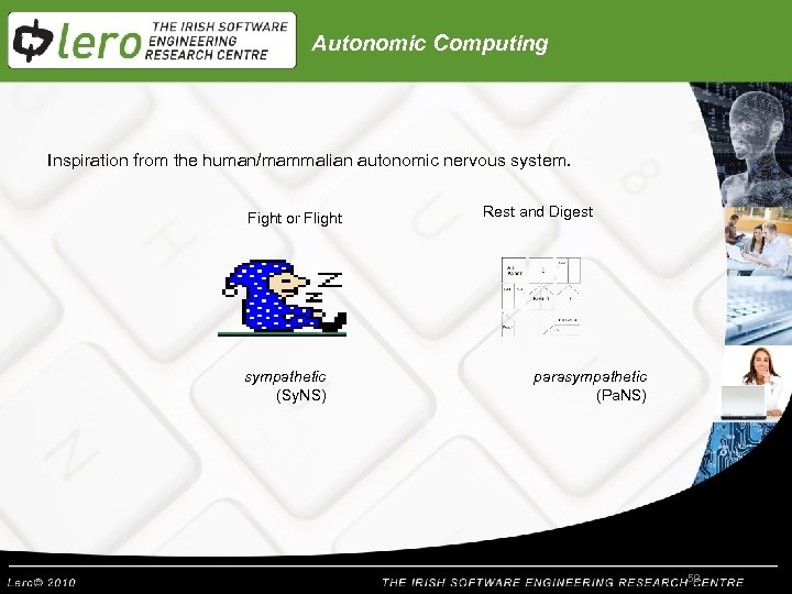 Autonomic Computing Inspiration from the human/mammalian autonomic nervous system. Fight or Flight sympathetic (Sy.