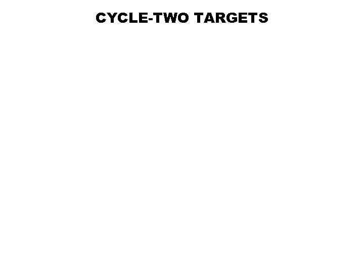 CYCLE-TWO TARGETS