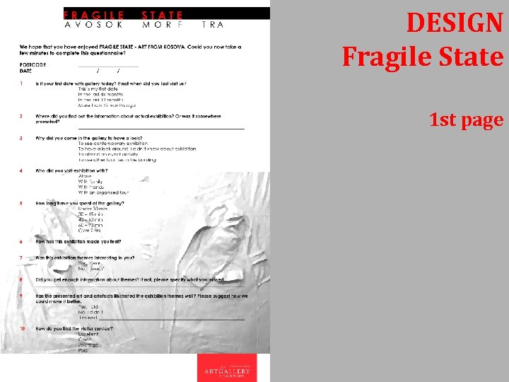 DESIGN Fragile State 1 st page