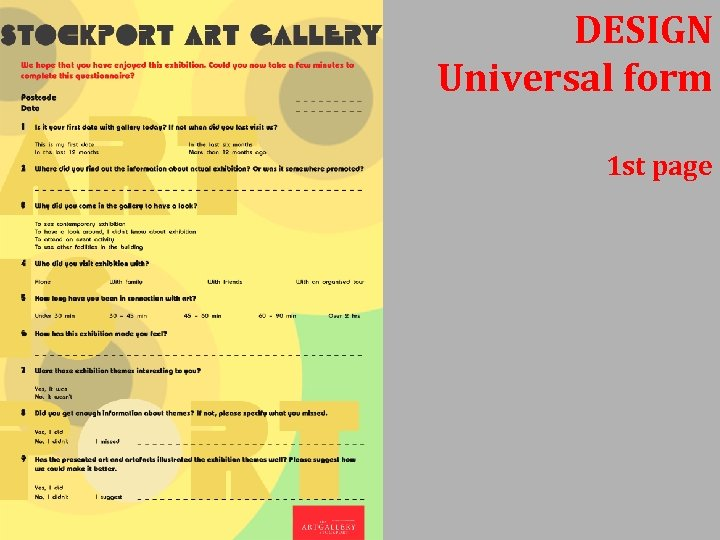 DESIGN Universal form 1 st page