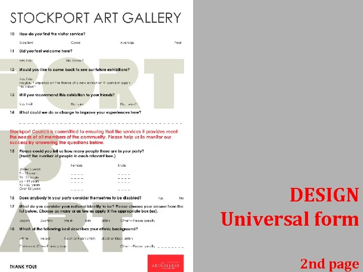 DESIGN Universal form 2 nd page
