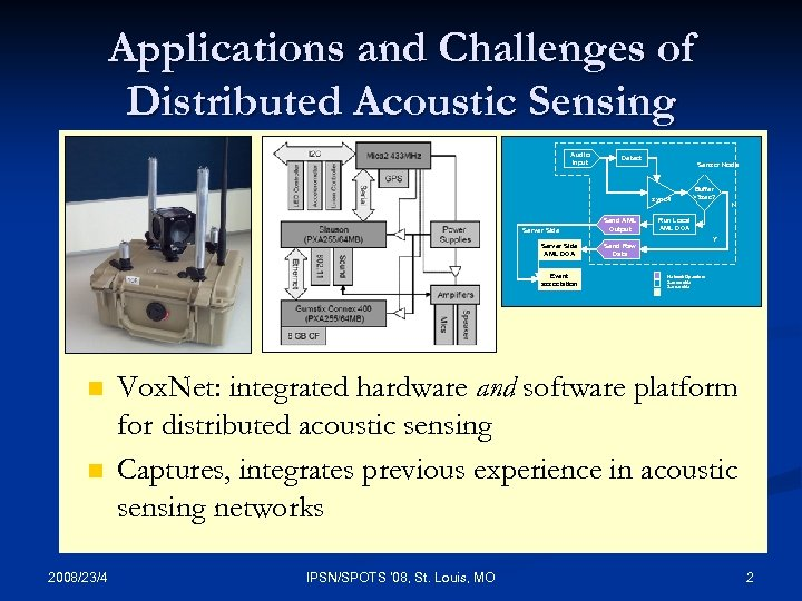 Applications and Challenges of Distributed Acoustic Sensing Has traditional WSN complexities, in addition: n