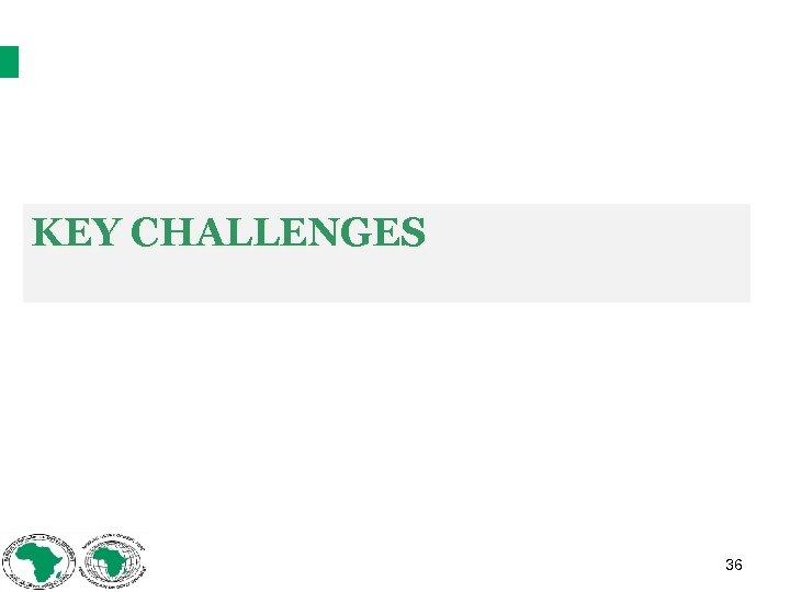 KEY CHALLENGES 36