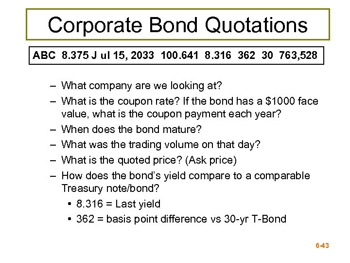 Corporate Bond Quotations ABC 8. 375 J ul 15, 2033 100. 641 8. 316