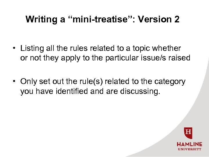 """Writing a """"mini-treatise"""": Version 2 • Listing all the rules related to a topic"""