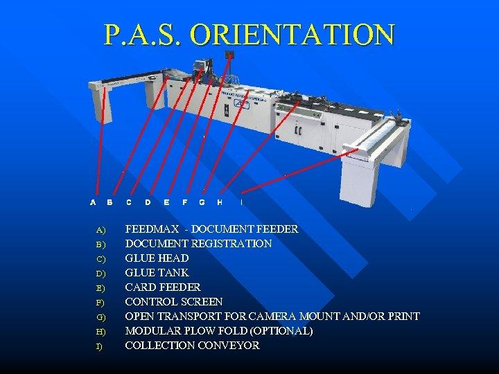 P. A. S. ORIENTATION A) B) C) D) E) F) G) H) I) FEEDMAX