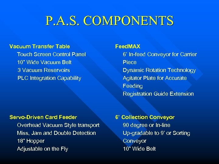 """P. A. S. COMPONENTS Vacuum Transfer Table Touch Screen Control Panel 10"""" Wide Vacuum"""
