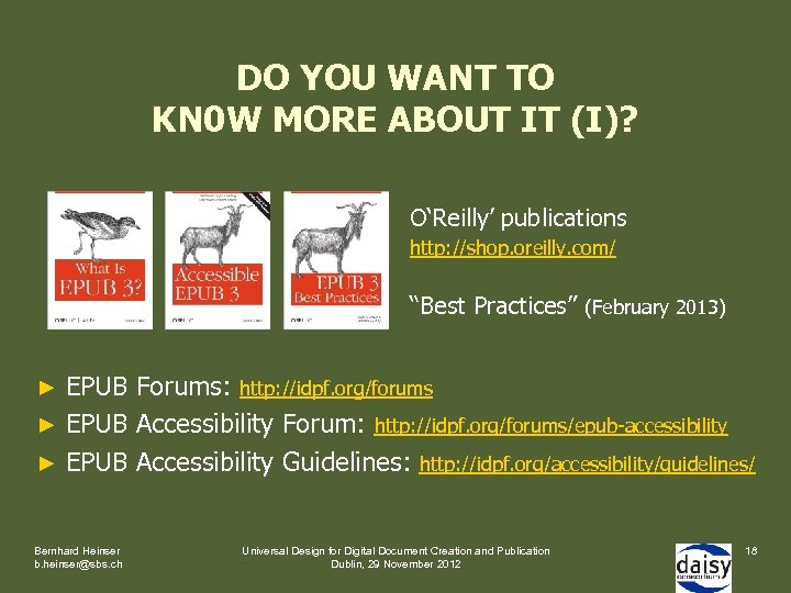 DO YOU WANT TO KN 0 W MORE ABOUT IT (I)? O'Reilly' publications http: