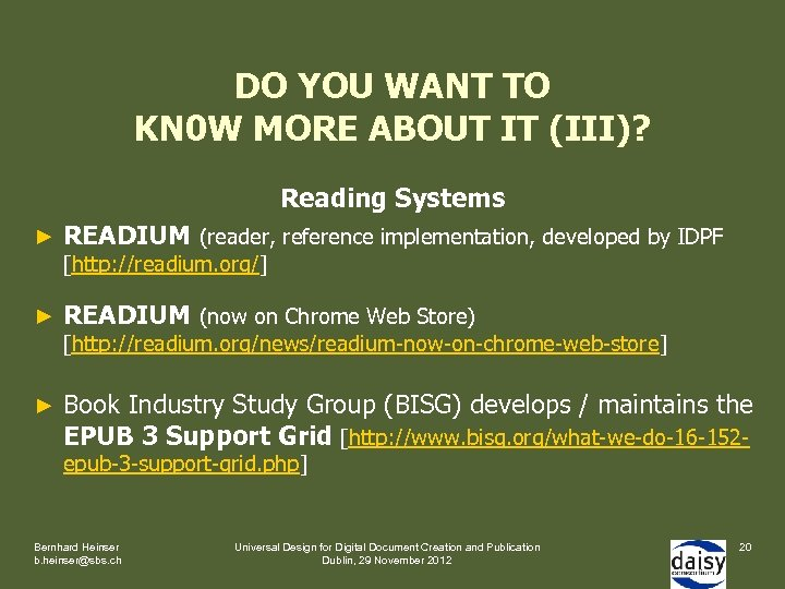 DO YOU WANT TO KN 0 W MORE ABOUT IT (III)? Reading Systems ►