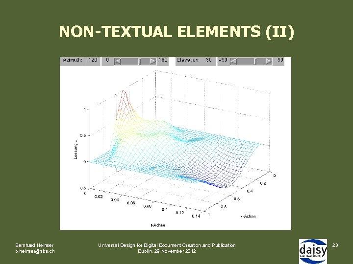 NON-TEXTUAL ELEMENTS (II) Bernhard Heinser b. heinser@sbs. ch Universal Design for Digital Document Creation