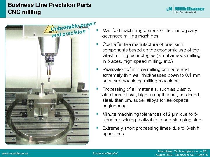 Business Line Precision Parts CNC milling er wer ab e po tablle po w