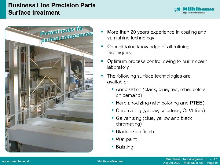 Business Line Precision Parts Surface treatment or for ct ooks f nts ect llooks