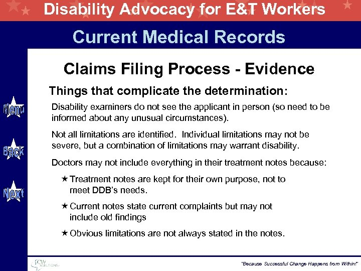 Disability Advocacy for E&T Workers Current Medical Records Claims Filing Process - Evidence Things