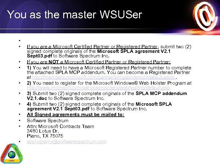 You as the master WSUSer • • • If you are a Microsoft Certified